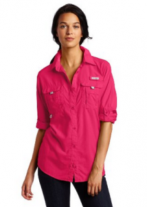 Amazon.com Columbia Women s Bahama Long Sleeve Shirt Button Down Shirts Sports Outdoors