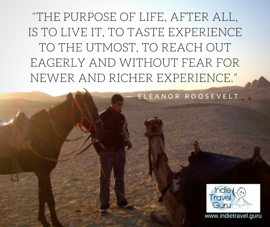 Travel Quote: Eleanor Roosevelt